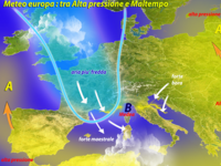 Meteo ~ ritorna l'ALTA PRESSIONE sull'EUROPA, ma non per TUTTI. Ciclone MEDEA sull'ITALIA