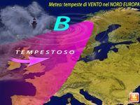 Meteo ~ EUROPA del NORD spazzata dalle TEMPESTE, in arrivo PIOGGIA e VENTO. Le PREVISIONI