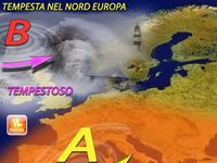 Meteo EUROPA - venti FORTI spazzano il vecchio CONTINENTE, nubifragi, mareggiate e TANTA NEVE