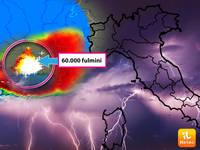 Meteo: 60 mila FULMINI in un solo TEMPORALE in FRANCIA! Perché così TANTI e di cosa sono PRESAGIO per l'ITALIA