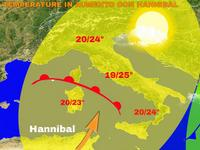 Meteo ITALIA / arriva l'ANTICICLONE HANNIBAL, temperature MASSIME in aumento sulla PENISOLA