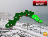 METEO: Liguria, Mercoledì 28 gran NEVE, anche a GENOVA