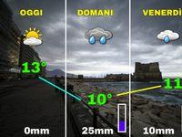 Meteo NAPOLI: Giovedì 26 arriva il CICLONEcon venti a 70km/h, attenzione