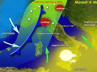 METEO | 70 cm di Neve sulle Alpi, martedì 9 ancora piogge, nubifragi, venti di burrasca e mareggiate sull'Italia