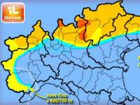 METEO » previsione di NEVE INTENSA su Alpi per domenica 7. Fino ad oltre 60 centimetri