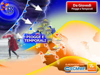 Meteo: da Giovedì, Fronte Perturbato colpirà sull'Italia, tornano Piogge e Temporali. Previsioni fino a Venerdì