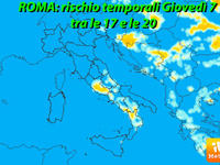 Meteo ROMA, Giovedì sera rischio TEMPORALI sulla Capitale!