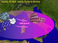 Meteo » ROMA, vento FORTE sulla CAPITALE, numerosi disagi. Raffiche fino a 100 km/h