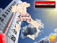 TEMPERATURE: in arrivo CORRENTI AFRICANE, si attende NUOVA IMPENNATA con punte di 22°C. Ecco QUANDO e DOVE