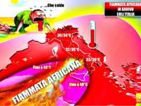 Meteo: TEMPERATURE, in attesa dei TEMPORALI, LINGUA ROVENTE a 41 gradi da TUNISIA verso ITALIA