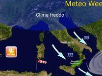 Meteo WEEKEND: Italia con GELO al Nord, vento di Maestrale a 100 km/h al Centro-Sud [VIDEO]