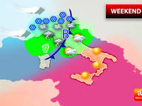 Meteo: WEEKEND, Sabato e Domenica Con Vortice Instabile. Ecco Dove Pioverà e Dove ci sarà il Sole