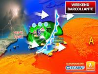 Meteo: WEEKEND BARCOLLANTE, tra SABATO e DOMENICA tornano la PIOGGIA e i TEMPORALI. La PREVISIONE