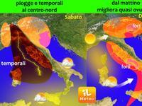METEO - rovesci e temporali per il Weekend, Italia nel maltempo [VIDEO]