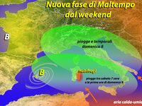 METEO, weekend 7-8 Maggio ancora con Piogge e Temporali sull'Italia!