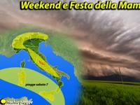 METEO, Weekend e Festa della Mamma con Sole, ma piogge pomeridiane [VIDEO]