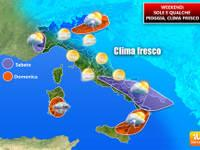 METEO WEEKEND: tra Sabato e Domenica ultimi TEMPORALI e FRESCO, l'ESTATE FATICA a riprendersi