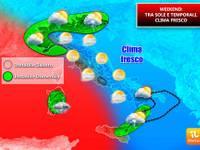 Meteo: WEEKEND NO, NON CI SIAMO, clima FRESCO e Domenica è pronto un nuovo ATTACCO di TEMPORALI e GRANDINE