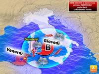 METEO: mini CICLONE sull'Italia, tanto vento, temporali e nubifragi. Regioni a rischio e durata del maltempo