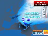 Meteo: DICEMBRE, tra NATALE e CAPODANNO ARIA GELIDA dalla RUSSIA potrebbe irrompere sull'Italia. TENDENZA COMPLETA