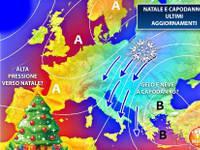 Meteo: NATALE e CAPODANNO, ultimissimi aggiornamenti. Grandi BIANCHE NOVITA' per San Silvestro