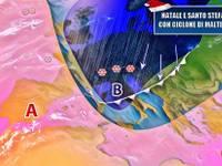 Meteo: NATALE col CICLONE, arrivano conferme. Pioggia e NEVE tra 25 Dicembre e SANTO STEFANO [AGGIORNAMENTI]
