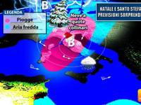 Meteo: NATALE e SANTO STEFANO previsioni SORPRENDENTI, ecco chi potrebbe fare il PIENO di NEVE [AGGIORNAMENTO]