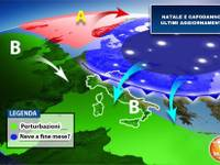 Meteo: novità  tra NATALE e CAPODANNO, Italia nella trappola degli attacchi atlantici, PIOGGIA e NEVE