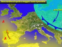 Meteo ITALIA ~ nevicate a FINE APRILE e primi di MAGGIO? ECCO quando la PRIMAVERA si veste da INVERNO