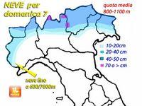 Meteo ITALIA ~ previsione di NEVE INTENSA su Alpi per domenica 7. Fino ad oltre 60 centimetri
