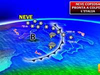 Meteo: COPIOSE NEVICATE pronte a colpire l'Italia, anche in PIANURA.  Ecco QUANDO e DOVE e accumuli