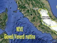 METEO NEVE: ultime fioccate in atto al CentroSud, le MAPPE NEVE, 100cm sui rilievi di Abruzzo, Molise, Puglia e Campania