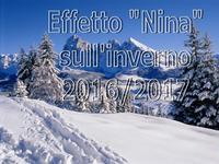 METEO ~ Supergelo e Neve copiosa sull'Italia per l'inverno 2016/17, tutta colpa della NINA?
