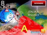 Meteo: a NOVEMBRE l'AUTUNNO farà sul SERIO. ITALIA a RISCHIO per 2 motivi. Le ultime PROIEZIONI hanno CONFERMATO