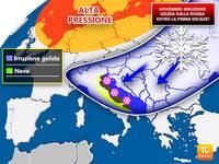 Meteo: NOVEMBRE, IRRUZIONE GELIDA dalla RUSSIA già entro il 10 del mese