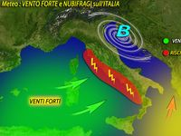 Meteo ~ ITALIA SPAZZATA dal VENTO, raffiche FORTISSIME oltre i 100 km/h e NUBIFRAGI. Le PREVISIONI