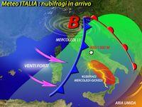 Meteo ITALIA / ancora NUBIFRAGI sulla PENISOLA nelle PROSSIME ore, ecco DOVE. Le PREVISIONI