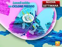 Meteo: NUOVA SETTIMANA, Lunedì subito un CICLONE FREDDO, Vento, Piogge e Temporali. Ecco tutte le Previsioni
