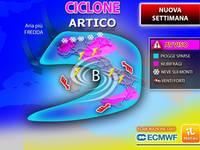 Meteo: NUOVA SETTIMANA, da Lunedì CICLONE ARTICO Sull'Italia, Piogge Forti, VENTO e NEVE. Ecco le PREVISIONI