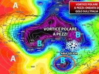 Meteo: VORTICE POLARE a PEZZI. AFFLUSSO di GELO ormai INCOMBENTE, il POLO NORD arriverà in ITALIA