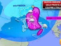 Meteo: TEMPERATURE, nuova ondata di GELO pronta a colpire l'Italia. Ecco QUANDO e dove farà più FREDDO