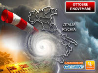 Meteo: OTTOBRE e NOVEMBRE, l'Italia RISCHIA per almeno 2 motivi. L'Ultimo AGGIORNAMENTO è PEGGIO del previsto