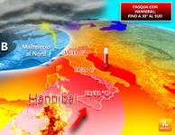 Meteo: PASQUA, Bomba CALDA con HANNIBAL, fino a 30°C [VIDEO]
