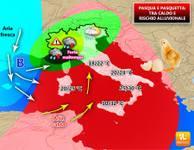 METEO: Lunedì di Pasquetta con rischio alluvionale in alcune regioni, vediamo [ANALISI]