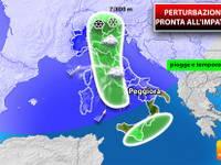Meteo: PERTURBAZIONE pronta all'IMPATTO. Tra poche ore Italia OSTAGGIO di piogge, temporali e NEVE. I DETTAGLI