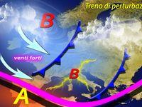 METEO: Italia, Treno di Perturbazioni, pioggia, Neve copiosa in montagna e Vento. Ecco le previsioni