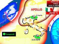 Meteo: 25 Aprile dapprima sole e caldo, poi la PIOGGIA [VIDEO]