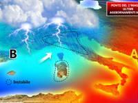 METEO: da Sabato 28 a Martedì 1° MAGGIO tempo INSTABILE [MAPPE aggiornate]