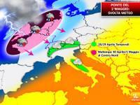 Meteo 1° MAGGIO: tempo instabile, RIBALTONE CAMBIA TUTTO [VIDEO]