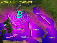 Meteo ITALIA ~ domenica di CARNEVALE tra NUBIFRAGI e vento forte, con RAFFICHE fino a 80 km/h